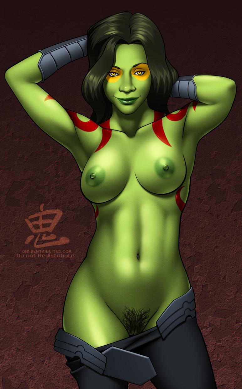 naked of gamora the galaxy guardians Melissa s my hero academia