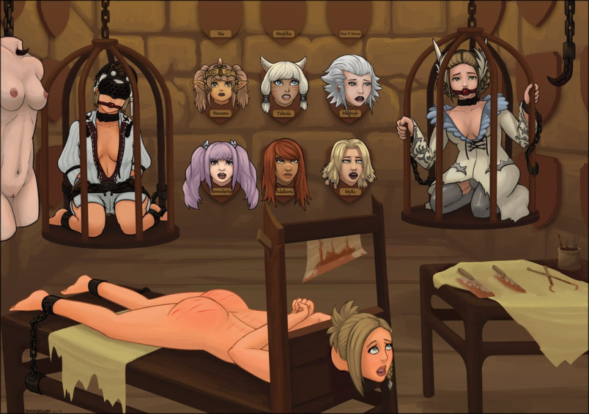 deprivation bondage gag hentai sensory blindfold Trials in tainted space sex scenes