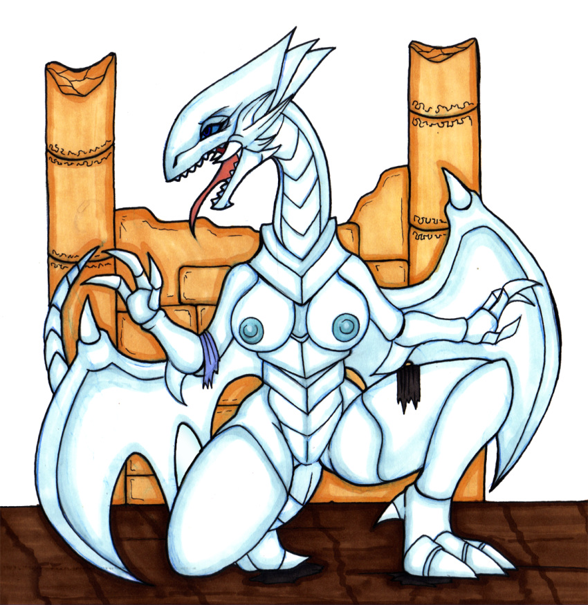 blue eyes white dragon Chica the chicken fnaf 2